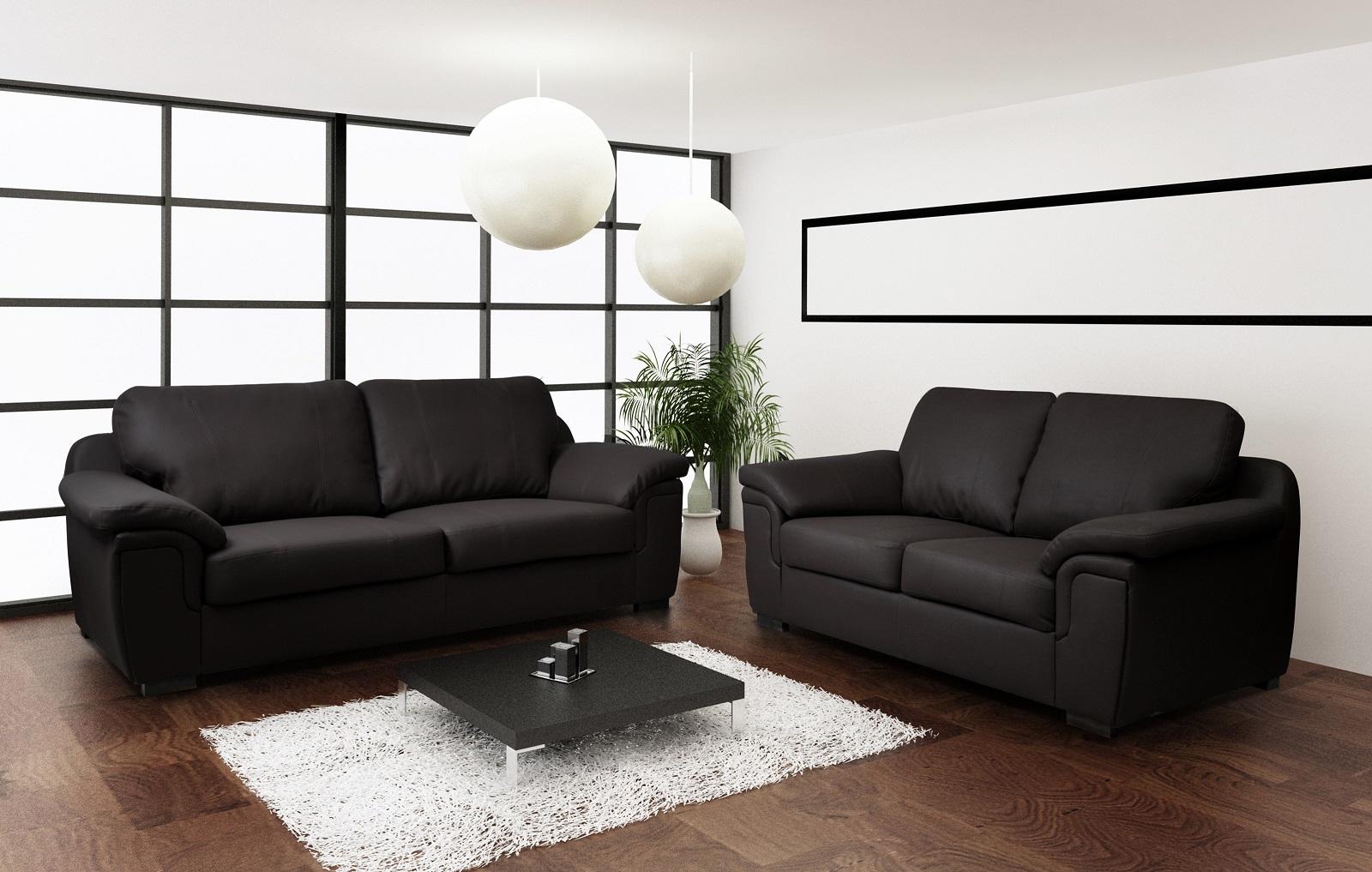 Amy 3+2 Faux Leather Sofa Set