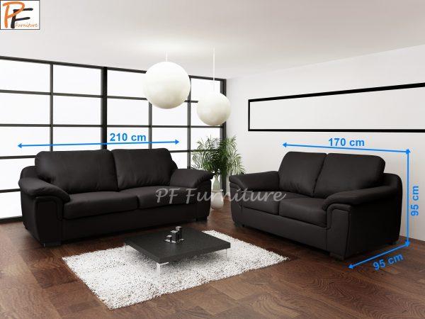 Amy 3+2 Sofa Set Faux Leather-913