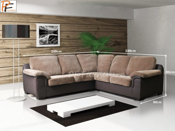 Amy Corner Sofa Fabric-964