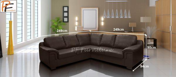 Amy Corner sofa Faux Leather-1015