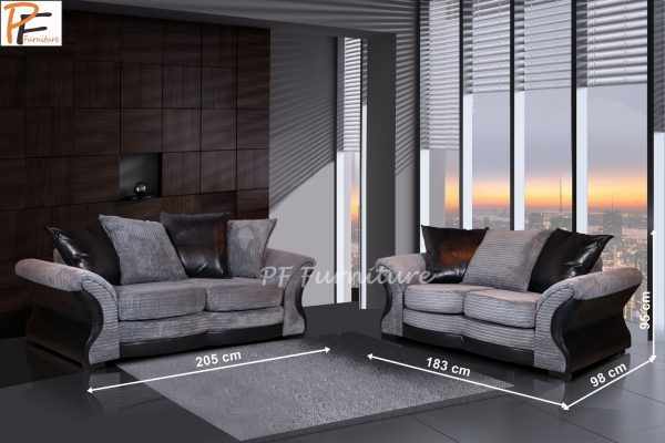 Candem 3+2 Sofa Set fabric-910