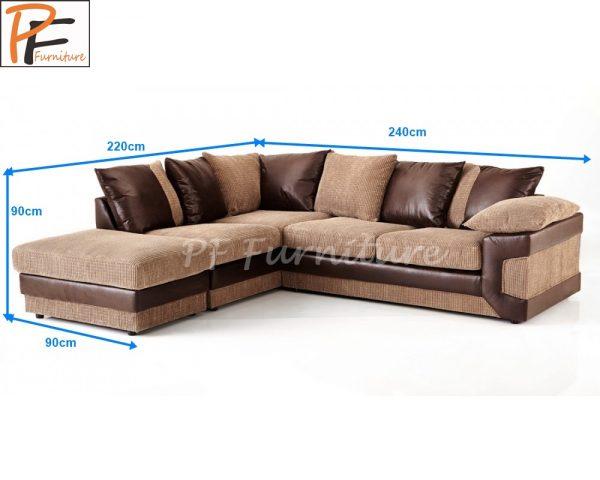 Dino Corner Sofa Fabric-979