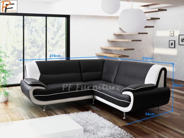Olaf corner sofa faux leather-986