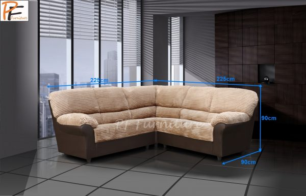 Roma Corner Sofa Fabric-991