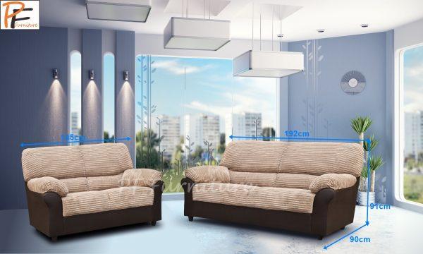 Roma 3+2 Sofa Set Fabric-942