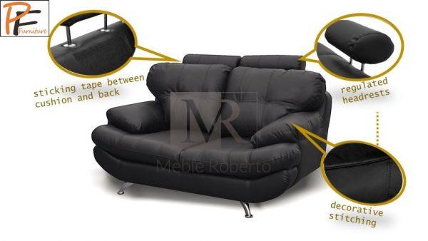 Sandy 3+2 Sofa Set Faux Leather-945