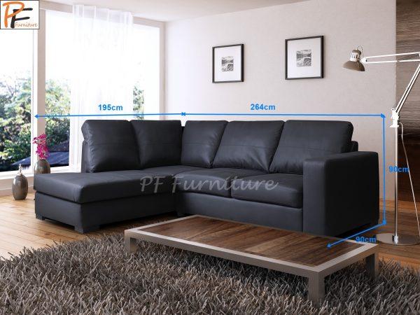 Westpoint Corner sofa faux leather-1023