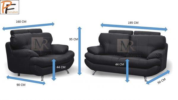 Sandy 3+2 Sofa Set Faux Leather-944
