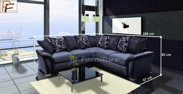 SHANNON CORNER SOFA (2C2) fabric-955