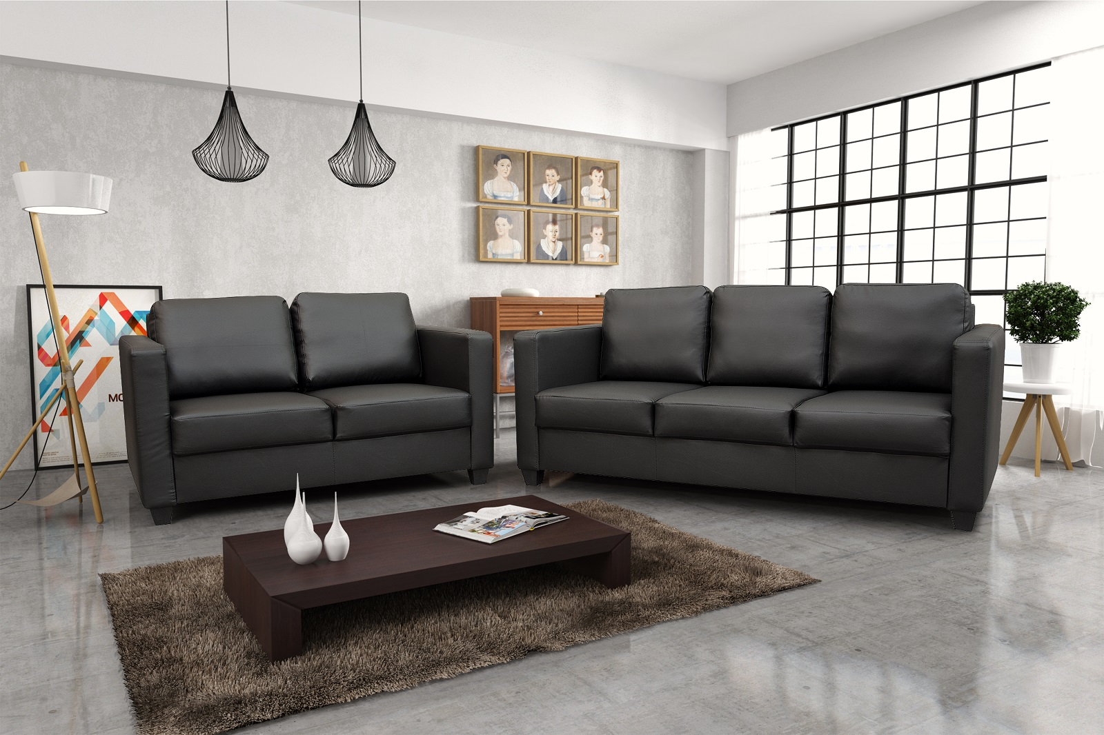 cube 3 2 sofa set pf furniture. Black Bedroom Furniture Sets. Home Design Ideas