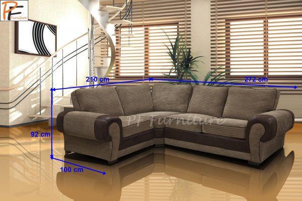 Tango corner sofa Fabric-1097