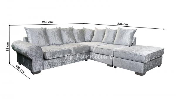 Royal Crushed Velvet Corner Sofa-1238