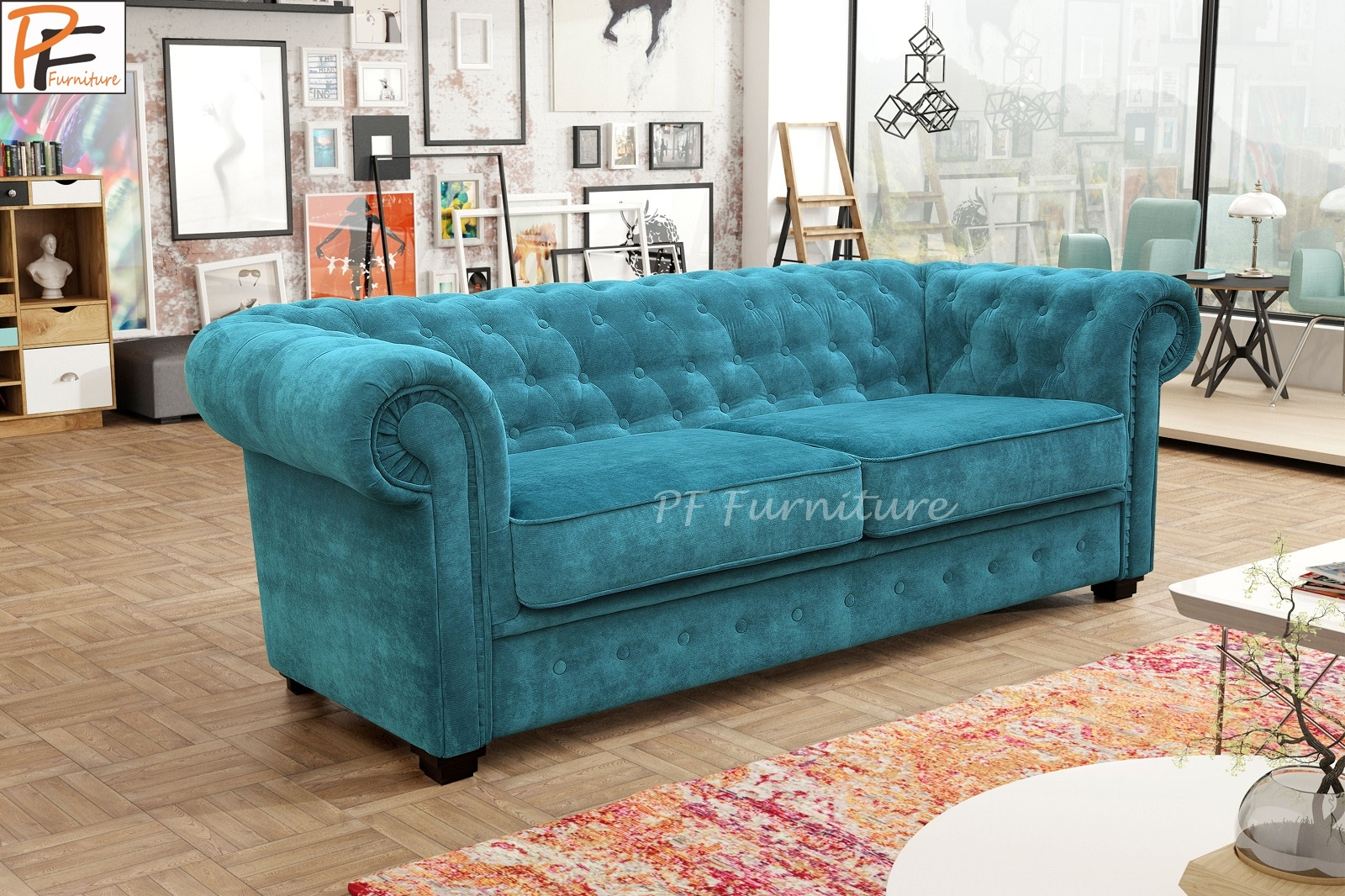 IMPERIAL 3 SEATER SOFA BED Fabric-0