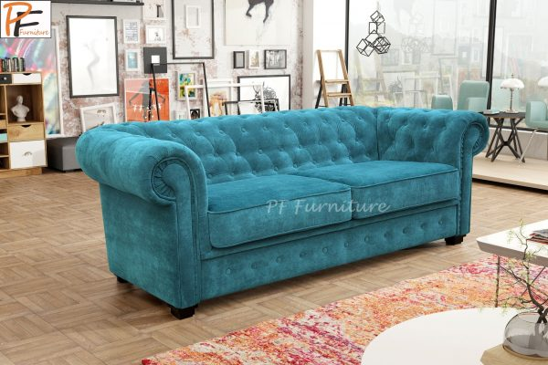 IMPERIAL 2 SEATER SOFA BED FABRIC-1273