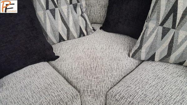 New Shannon corner sofa black/white-1310